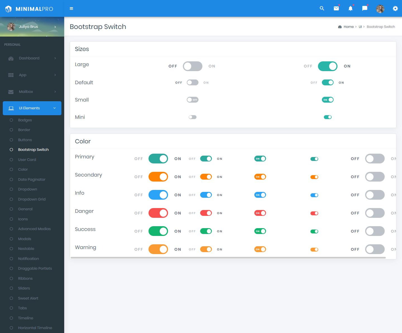 Dark Sidebar Bootstrap Admin Templates