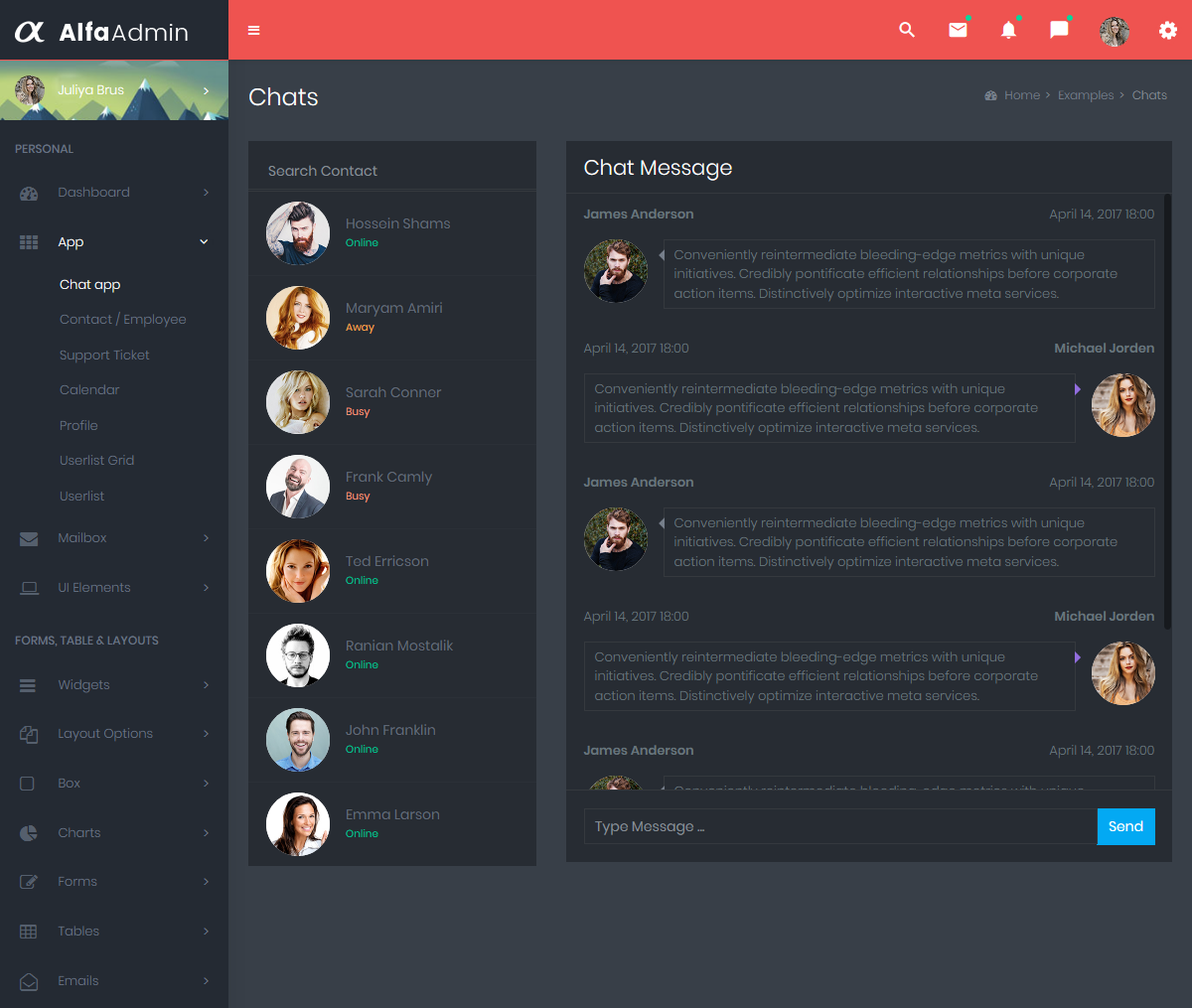 Alfa Dark Dashboard – Responsive Bootstrap Admin Templates